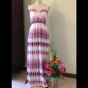 💜💟PURPLE BOHO MAXI DRESS size Small NWOT🏖💜